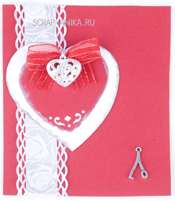 валентинка, открытка своими руками